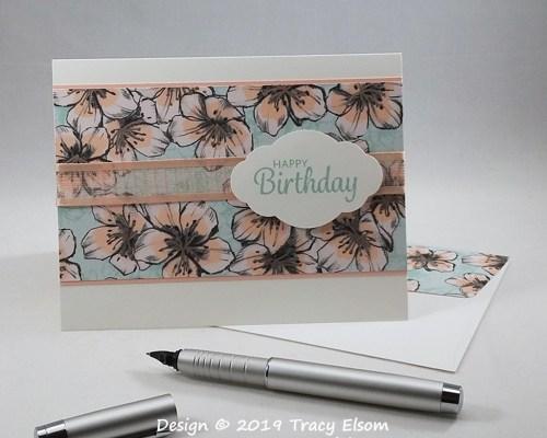 1896 Parisian Blossoms Birthday Card