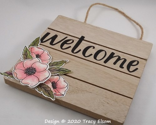FP25 Floral Welcome Plaque