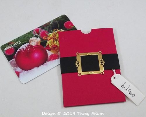 GC213 Santa's Belt Gift Card Holder
