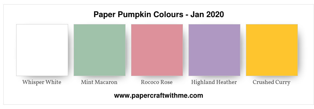 "Colour palette for the January 2020 Paper Pumpkin kit ""I'll Bee Yours"". #paperctaftwithme"