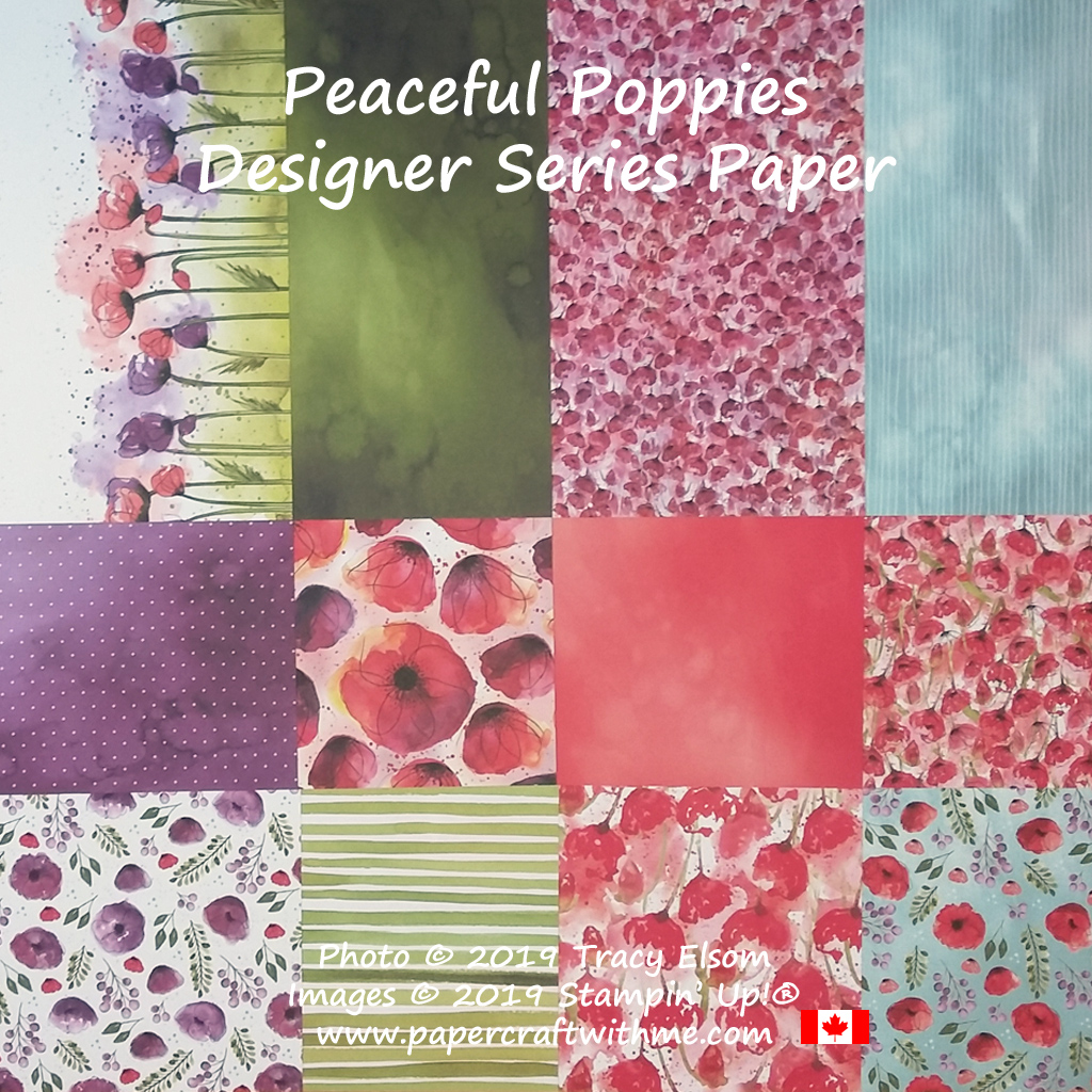 Peaceful Poppies DSP patterned paper from Stampin' Up! #papercraftwithme