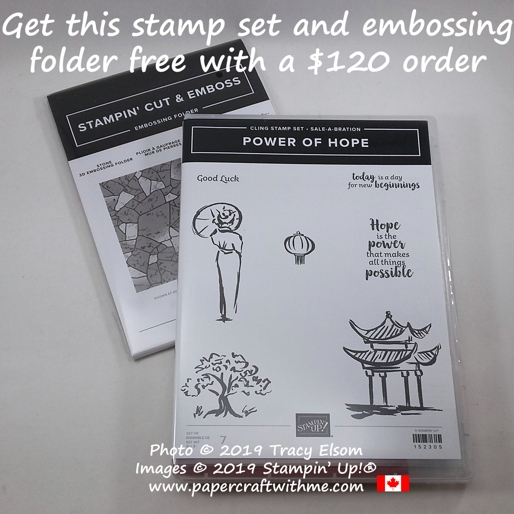 Get the Power of Hope Stamp Set and Stone 3D Embossing Folder for free with a $120 CAD order. #papercraftwithme