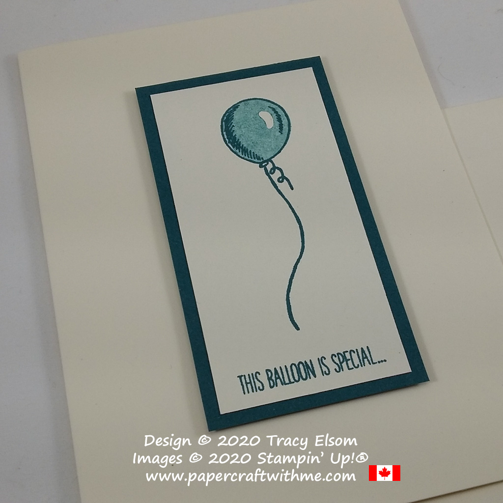 Get well card with simple balloon image and sentiment from the Special Someone Stamp Set from Stampin' Up! #papercraftwithme