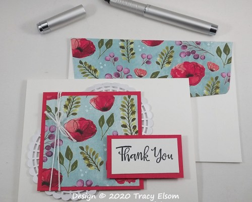 1911 Poppy Panel Thank You Card
