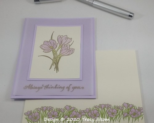 1914 Purple Crocus Thoughts Card