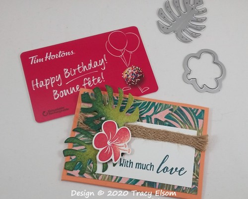 GC215 Tropical Oasis Gift Card Holder
