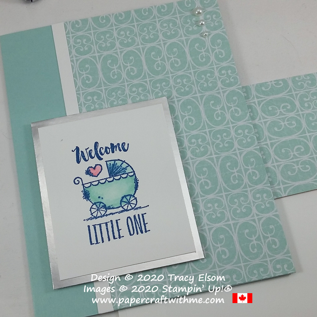 "Simple ""Welcome little one"" card created using the Witty-cisms Stamp Set from Stampin' Up! #papercraftwithme"
