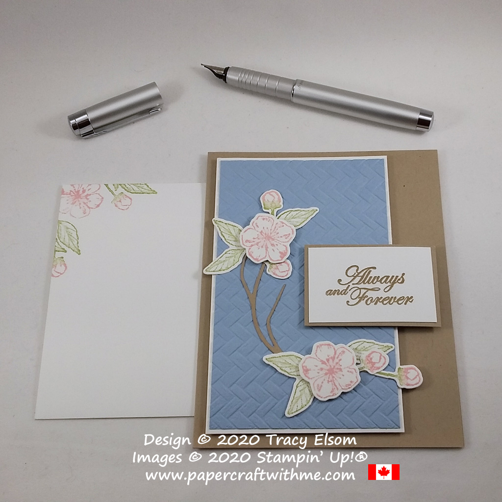 """Always and Forever"" wedding card created using the Forever Blossoms Stamp Set and coordinating Cherry Blossoms Dies from Stampin' Up! #papercraftwithme"