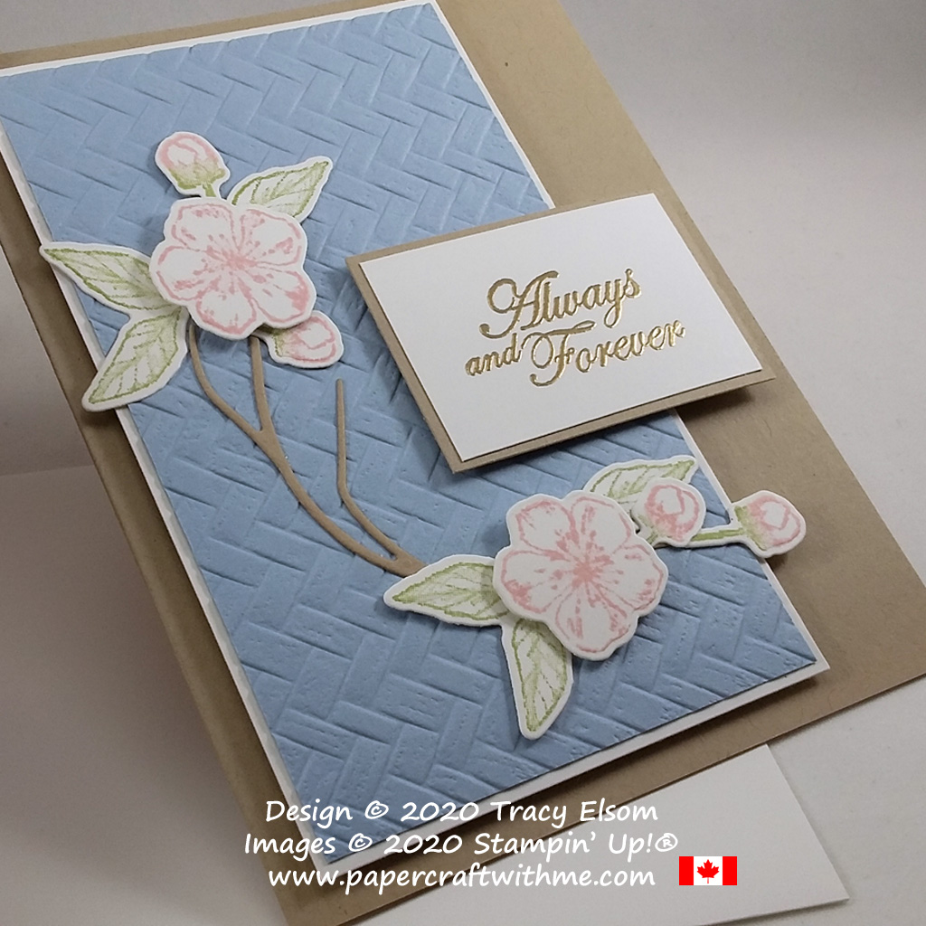 """""""Always and Forever"""" wedding card created using the Forever Blossoms Stamp Set and coordinating Cherry Blossoms Dies from Stampin' Up! #papercraftwithme"""
