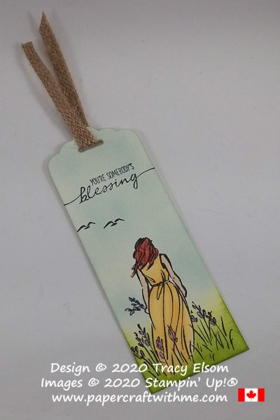 "Summer scene bookmark with ""You're somebody's blessing"" sentiment created using the Beautiful Moments Stamp Set and Stampin' Blends markers from Stampin' Up! #papercraftwithme"