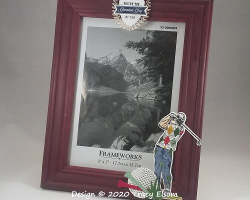 FP26 Golf-themed Picture Frame