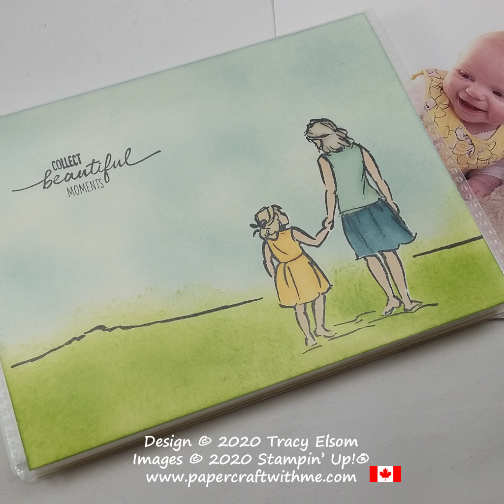 """4"""" x 6"""" pocket photo album decorated with a """"collect beautiful moments"""" sentiment and simple outdoor scene using the Beautiful Moments Stamp Set from Stampin' Up! #papercraftwithme"""