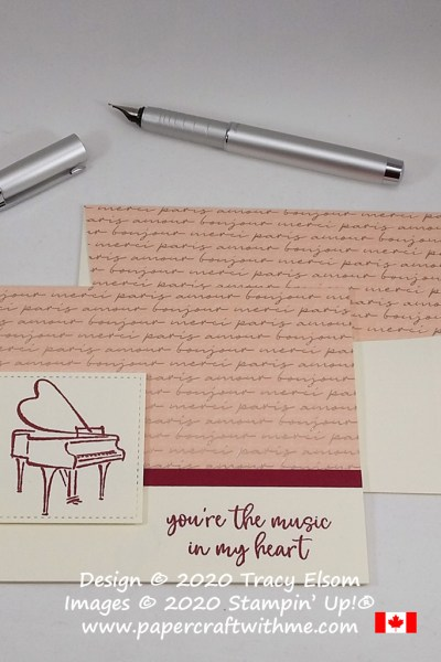 Simple card created using a sentiment and grand piano image from the Music In My Heart Stamp Set from Stampin' Up! #papercraftwithme