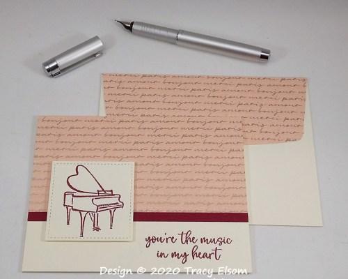 1942 Grand Piano Card