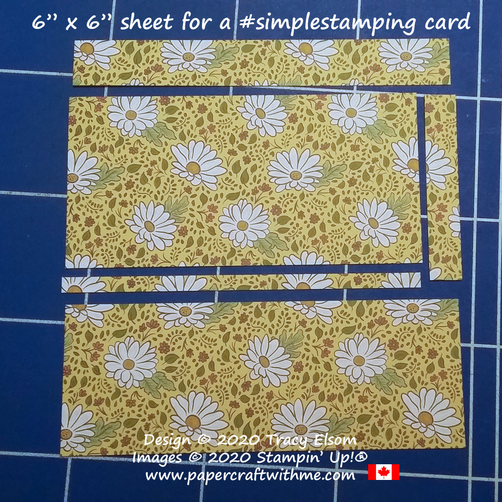 """Take a 6"""" x 6"""" piece of patterned paper and use it to create a card front, and decorate the inside and the envelope too! #papercraftwithme"""