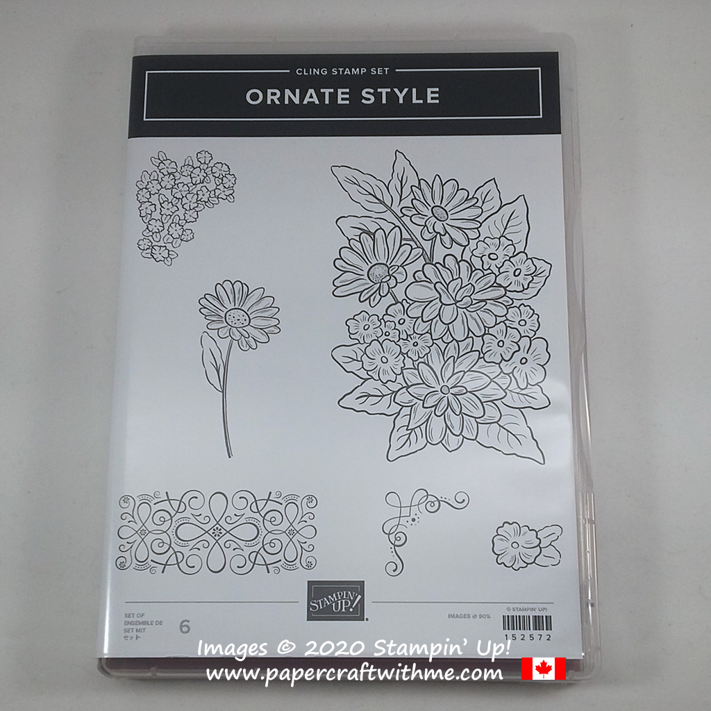 Ornate Style Stamp Set from Stampin' Up! available to customers starting April 1st 2020. #papercraftwithme