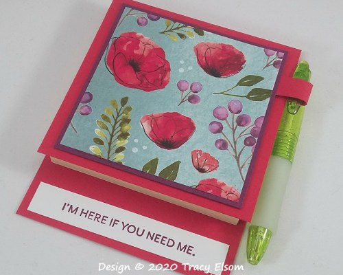P102 Poppies Post-It® Note Holder