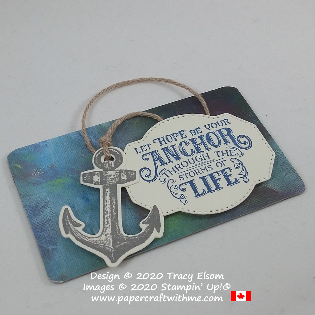"I created this fridge magnet with ""let hope be your anchor through the storms of life"" sentiment using the Sailing Home Stamp Set and coordinating Smooth Sailing Dies from Stampin' Up! #papercraftwithme"
