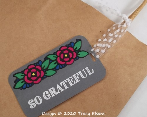 So Grateful Paper Pieced Tag