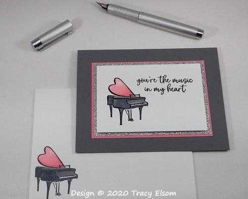 1954 Grand Piano Music Card