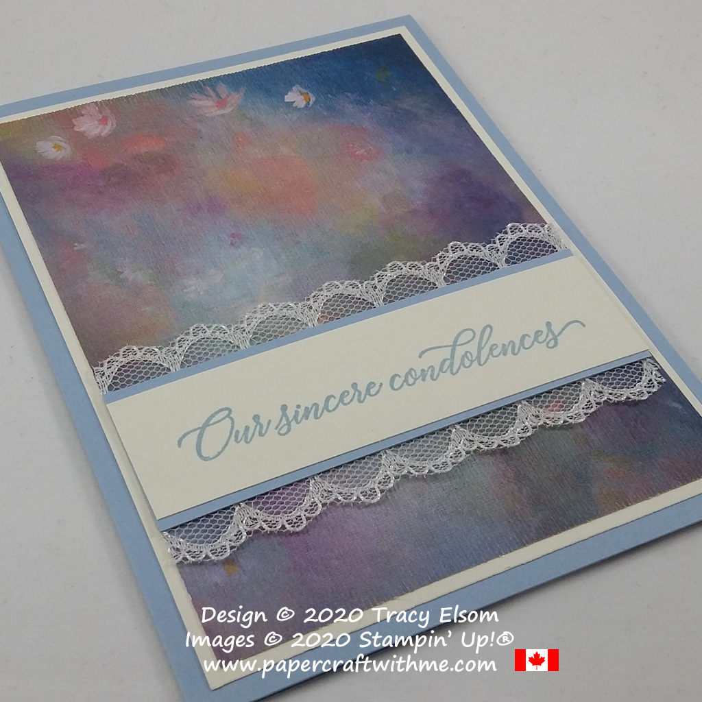 """""""Our sincere condolences"""" card created using the Kindness & Compassion Stamp Set from Stampin' Up! #papercraftwithme"""