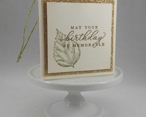 Birthday Leaf Gift Tag