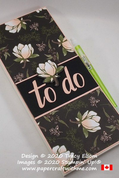 Magnolia To Do List created using Magnolia Lane paper with Magnolia Memory and Hand-Lettered Prose Dies from Stampin' Up! #papercraftwithme