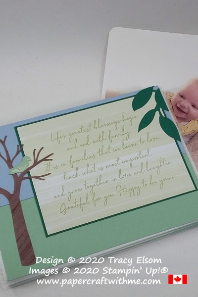 "Simple photo album project created using the April 2020 Paper Pumpkin kit ""My Wonderful Family"" from Stampin' Up! #papercraftwithme"