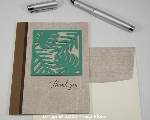 1978 Tropical Leaves Thank You Card