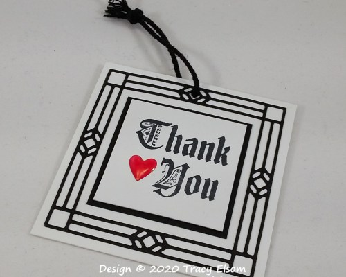 Gothic Thank You Gift Tag