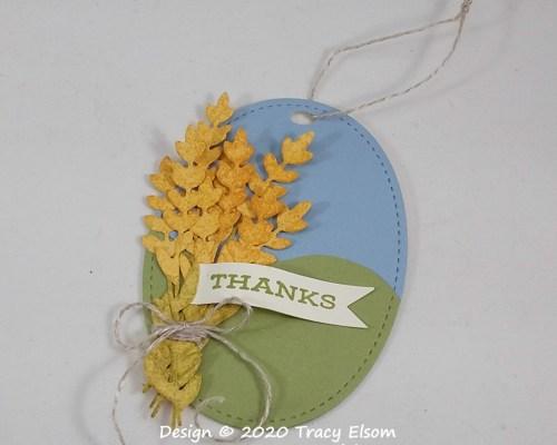 Wheatsheaf Thanks Gift Tag