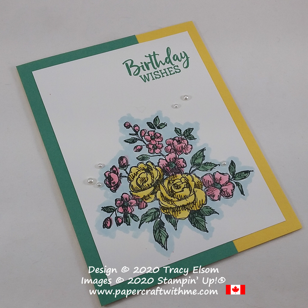Easy colouring with Stampin' Blends alcohol markers on this birthday card using the Fancy Phases Stamp Set from Stampin' Up! #simplestamping #papercraftwithme