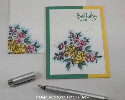 2001 Fancy Birthday Wishes Card