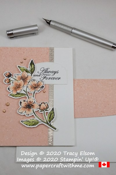 """Always and Forever"" card for Valentine's Day, wedding, engagement or anniversary. Created using the Forever Blossoms Stamp Set and coordinating Cherry Blossoms Dies from Stampin' Up! #papercraftwithme"