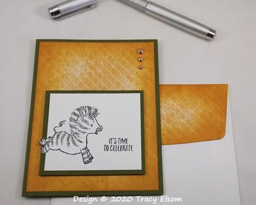 2010 Time To Celebrate Zebra Card