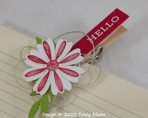 P116 Hello Clothes Pin Fridge Magnet
