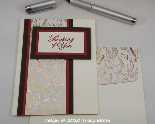 2037 Gilded Thinking Of You Card