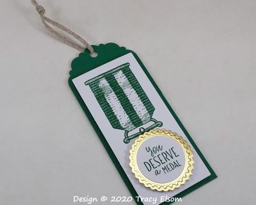 You Deserve A Medal Gift Tag