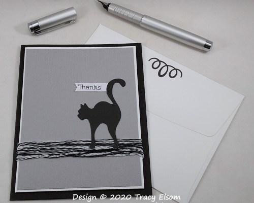 2049 Black Cat Thank You Card