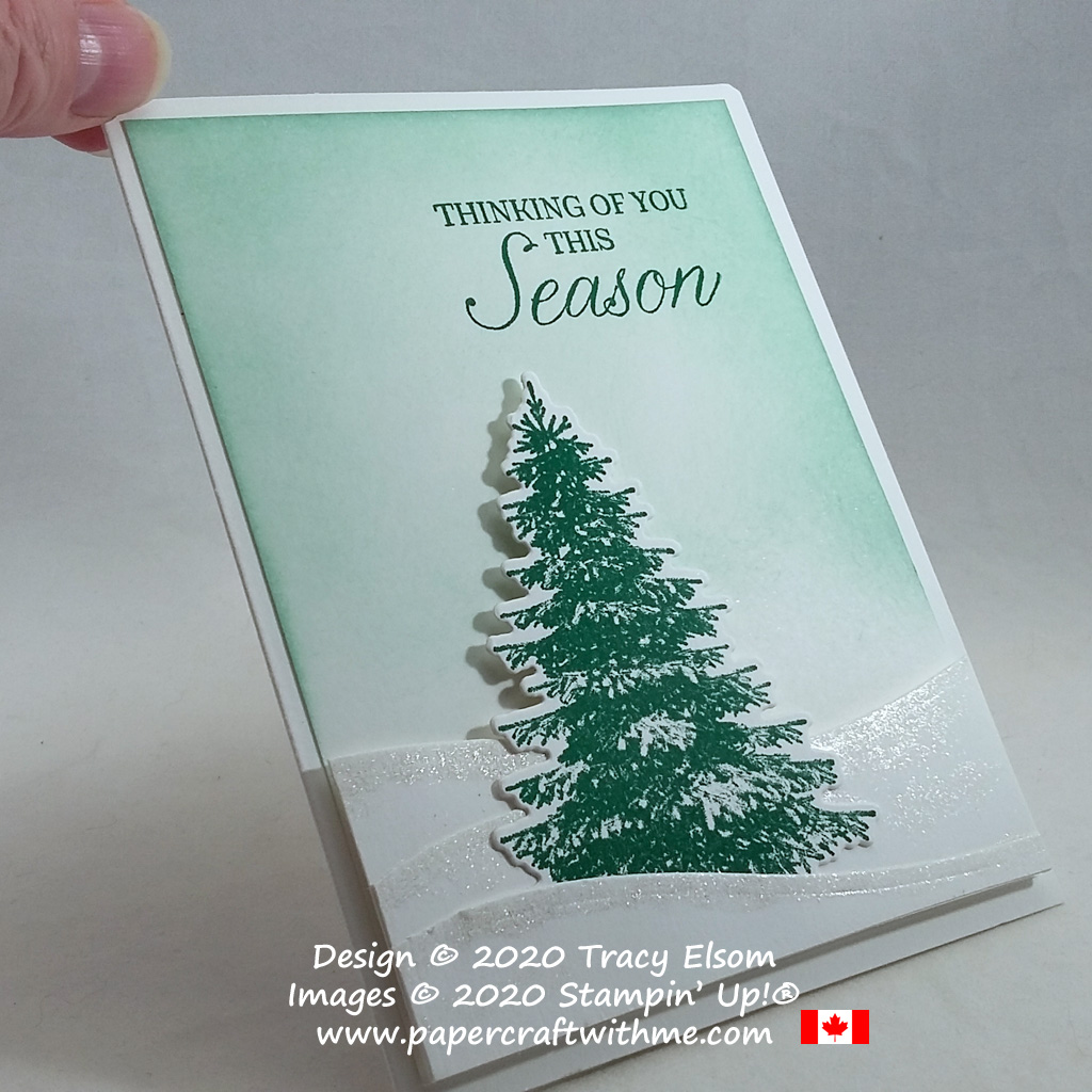 """Thinking of you this season"" with the Winter Woods Stamp Set and coordinating In The Woods Dies from Stampin' Up! #papercraftwithme"