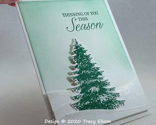 2051 Lone Christmas Tree Card
