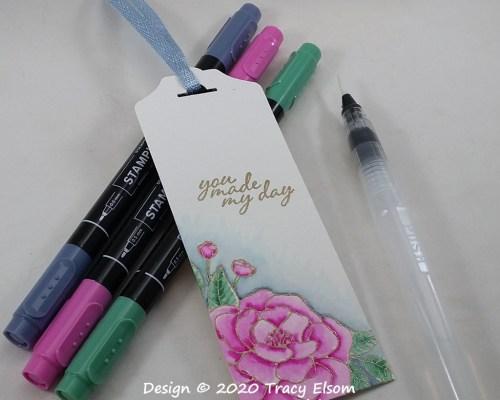 BM313 Painted Camellia Bookmark