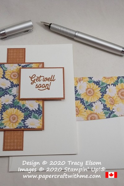 Get well card created using the Many Mates Stamp Set and Flowers For Every Season paper from Stampin' Up! #simplestamping #papercraftwithme