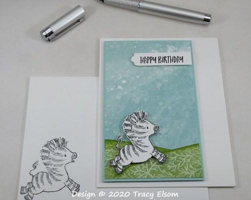 2060 Zany Zebra Birthday Card