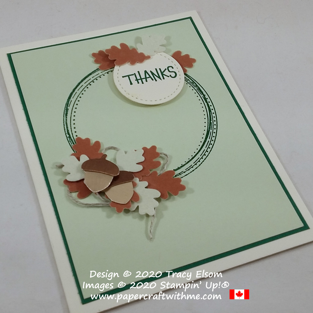 "Autumn ""thanks"" card created using the Swirly Frames and From All Of Us Stamp Sets along with the Autumn Punch Pack, all from Stampin' Up!"
