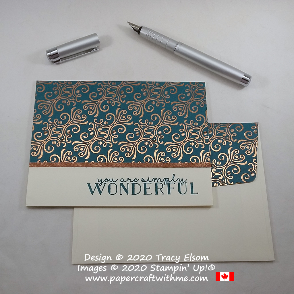 "Stunning ""you are simply wonderful'"" card created using the Bloom & Grow Stamp Set and Brightly Gleaming paper from Stampin' Up! #simplestamping #papercraftwithme"