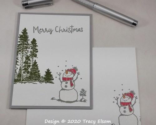 2071 Happy Snowman Christmas Card