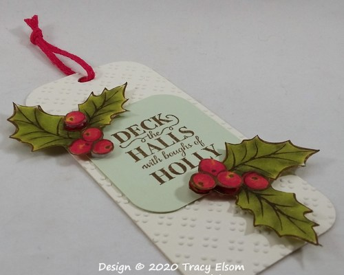 Deck The Halls Holly Gift Tag