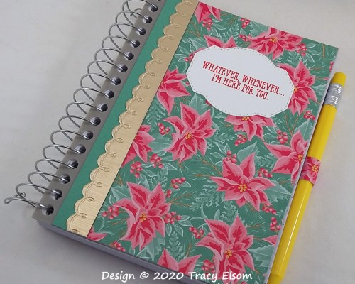 P132 Whatever Whenever Poinsettia Notebook