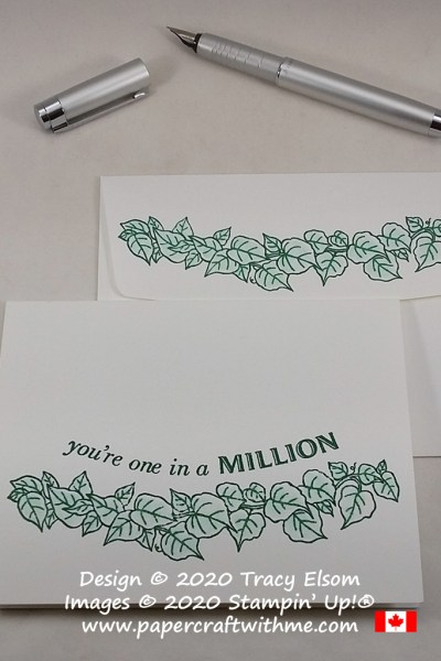 """You're one in a million"" card created using the Quite Curvy Stamp Set from Stampin' Up! #simplestamping #papercraftwithme"